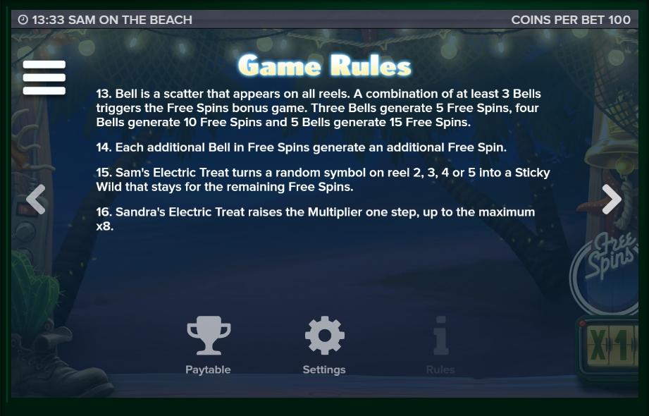 sam on the beach slot machine detail image 1