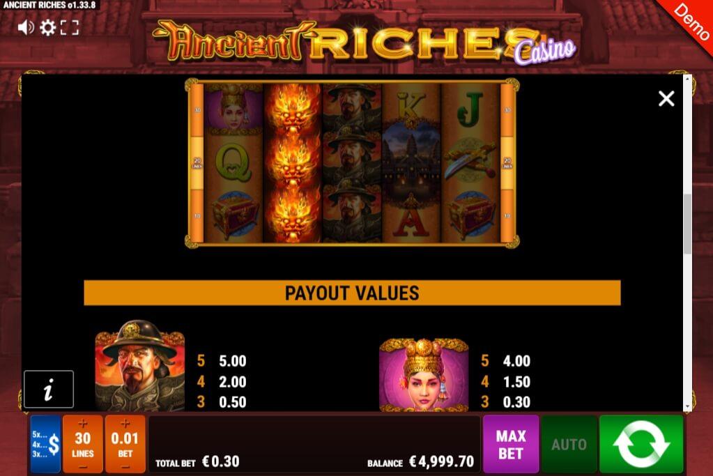 Ancient Riches Slot Machine