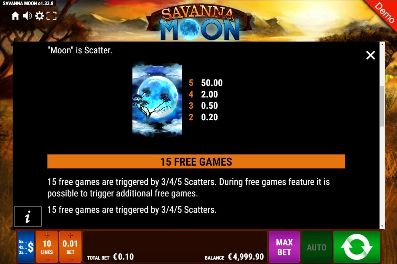 Savanna Moon Slot Machine