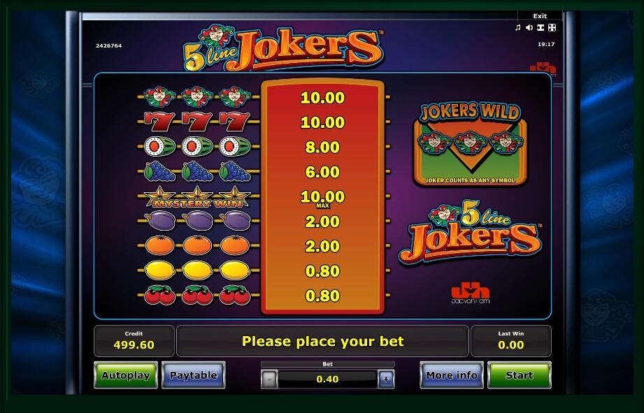 5 Line Joker Slot