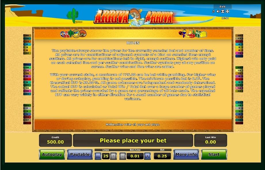 Arriva Arriva Slot Machine