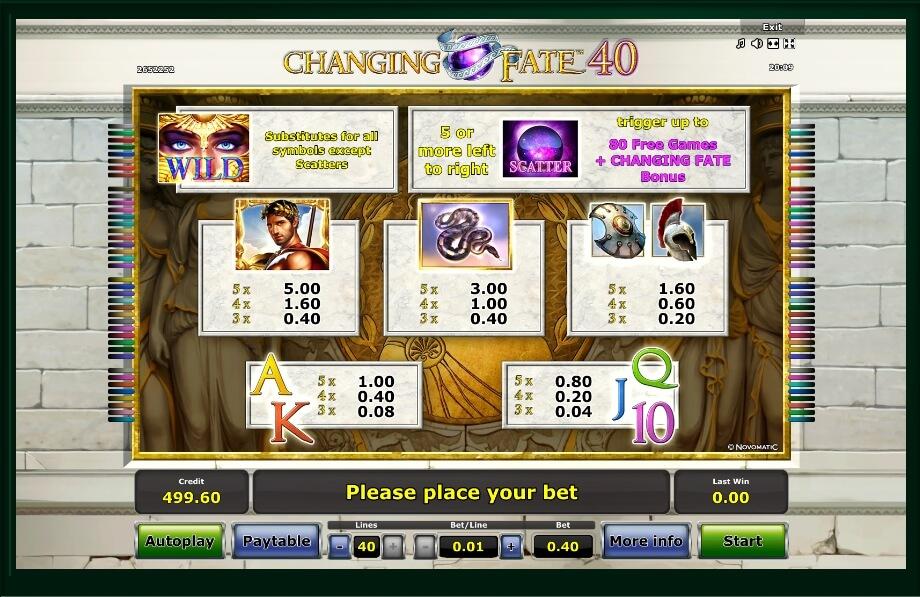 Changing Fate 40 Slot Machine