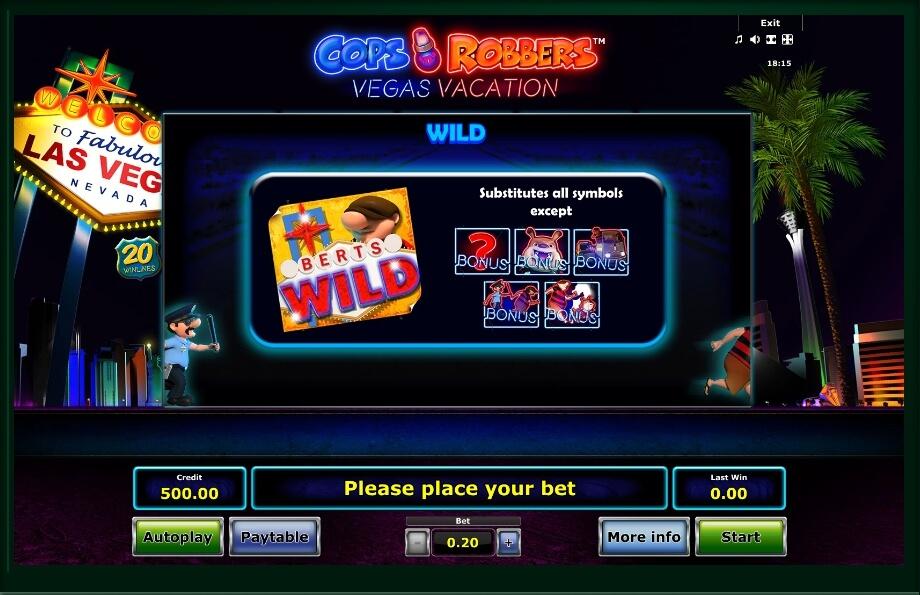 Cops N Robbers: Vegas Vacation Slot Machine