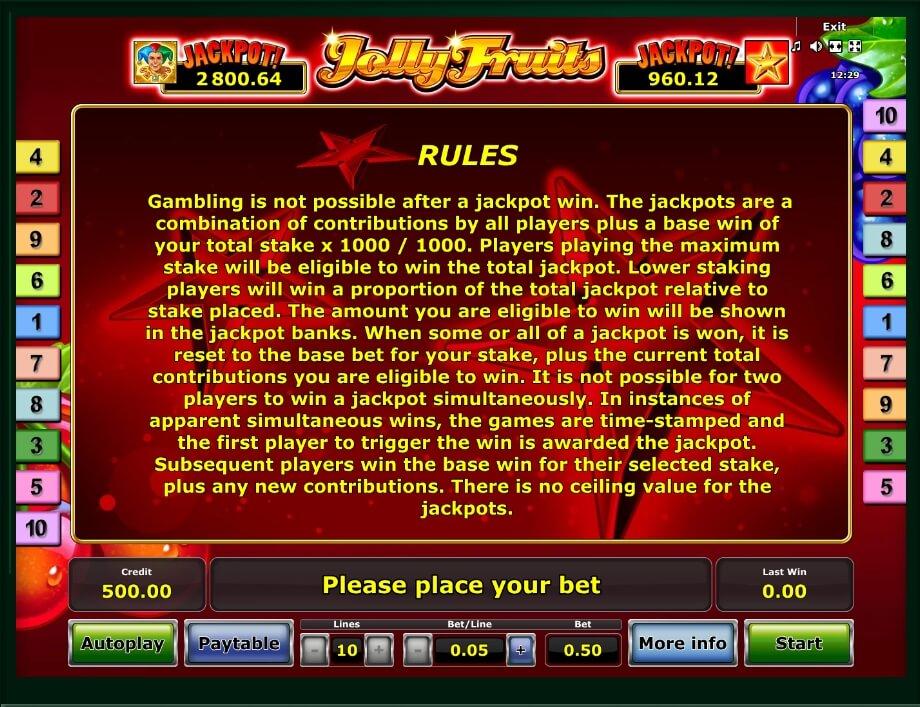 Jolly Fruits Slot Machine