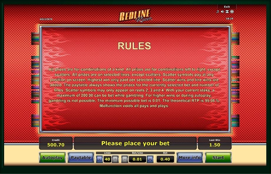 Redline Racer Slot Machine