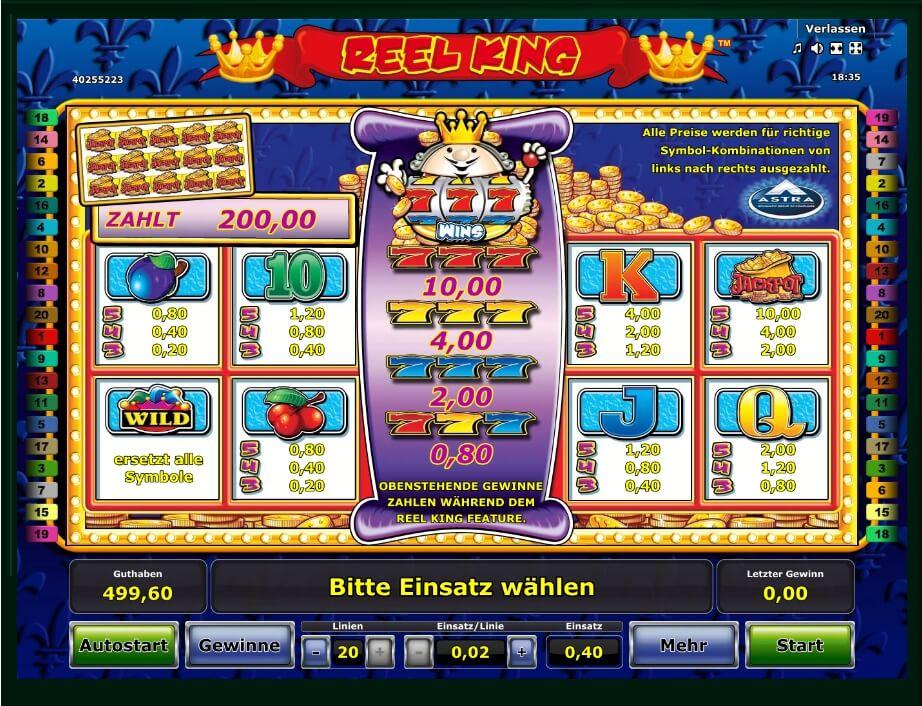 Free Online Slots Reel King