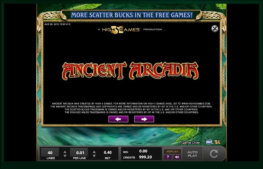 Ancient arcadia high5 casino slots promo