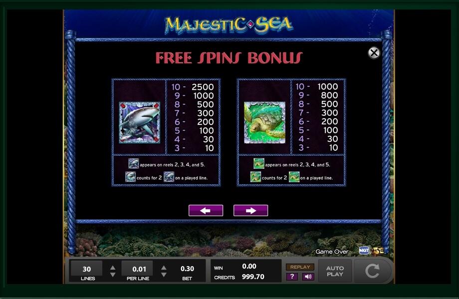 Majestic Sea Slot Machine