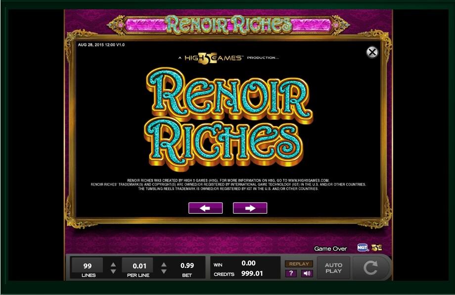Renoir Riches Slot Machine