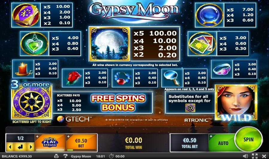 Spiele Gypsy Moon - Video Slots Online