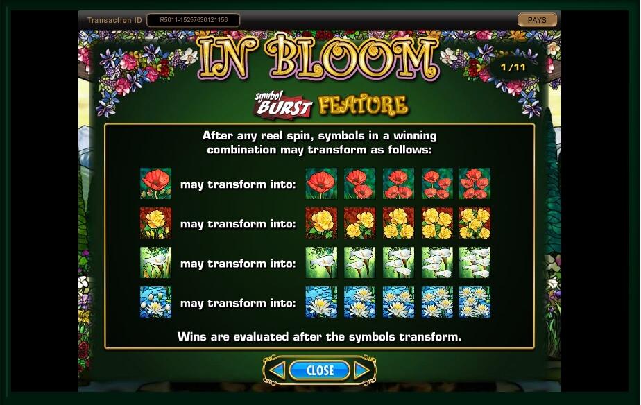in bloom slot machine detail image 21