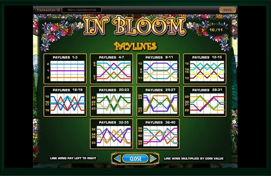 in bloom slot machine detail image 20