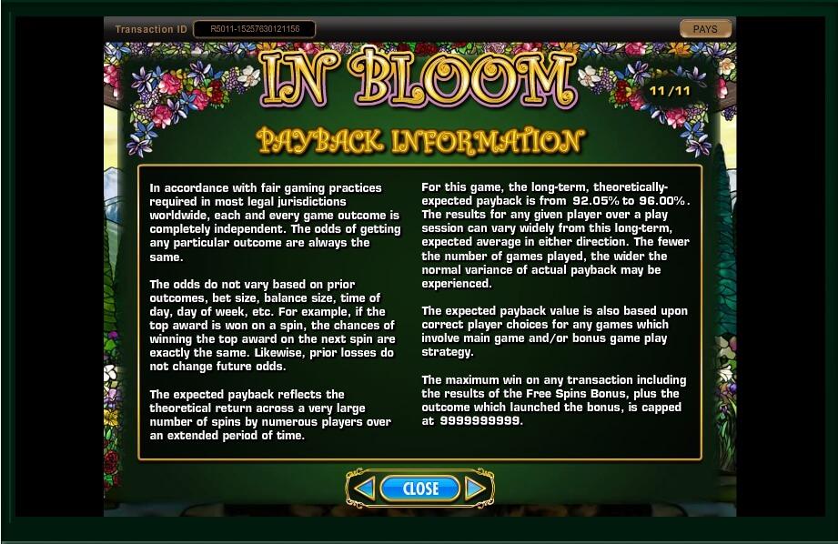 in bloom slot machine detail image 19