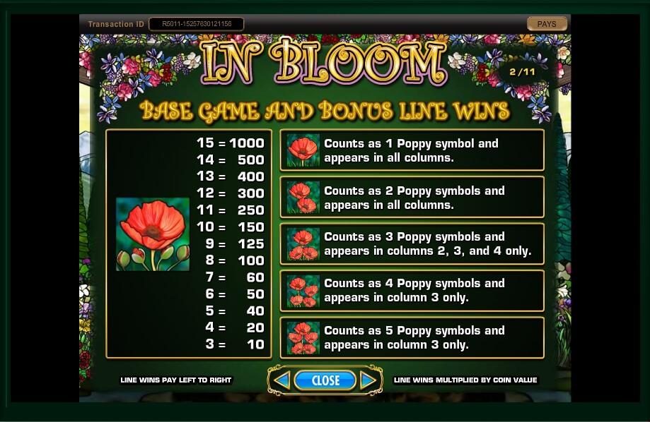 in bloom slot machine detail image 18