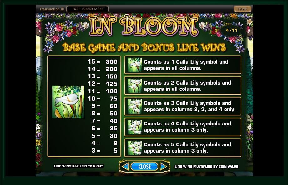 in bloom slot machine detail image 16