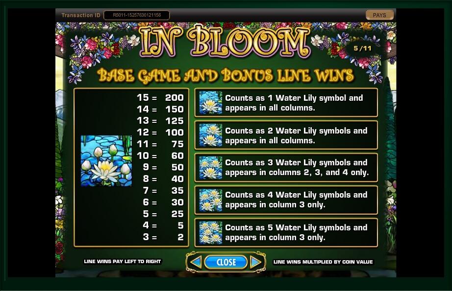 in bloom slot machine detail image 15