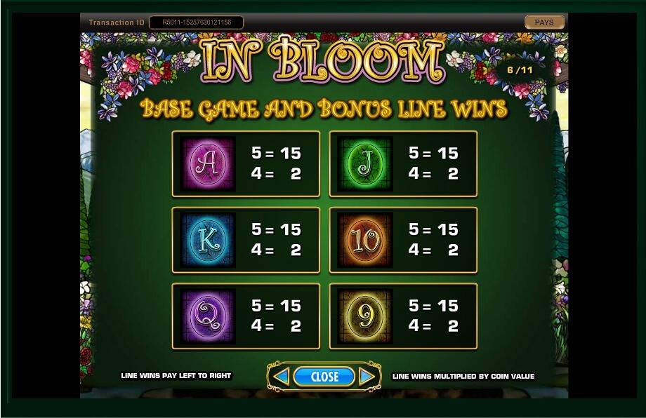 in bloom slot machine detail image 14
