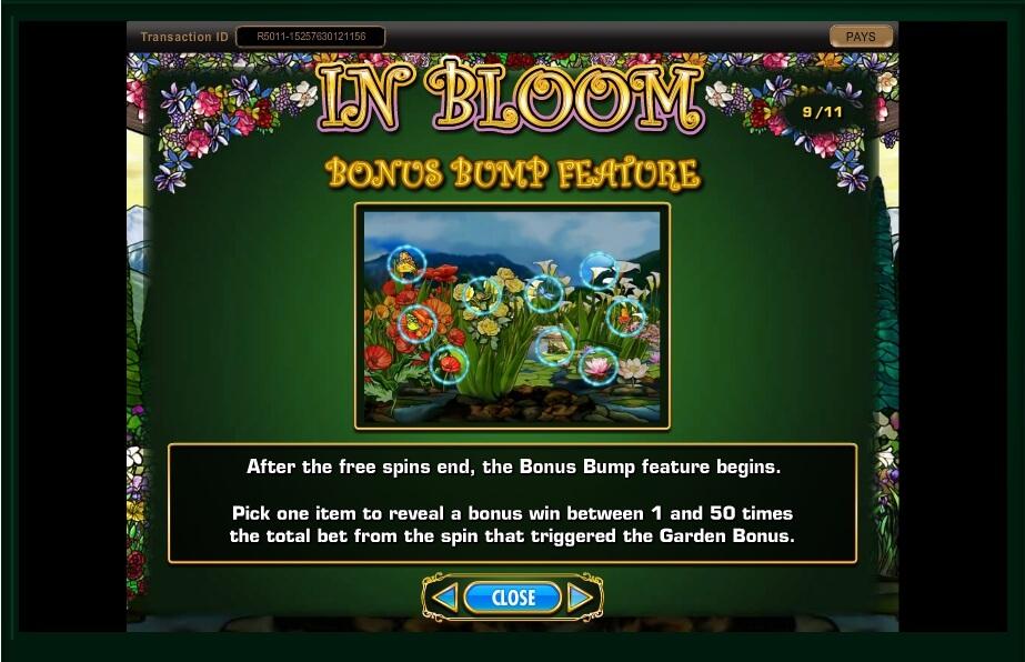 in bloom slot machine detail image 11