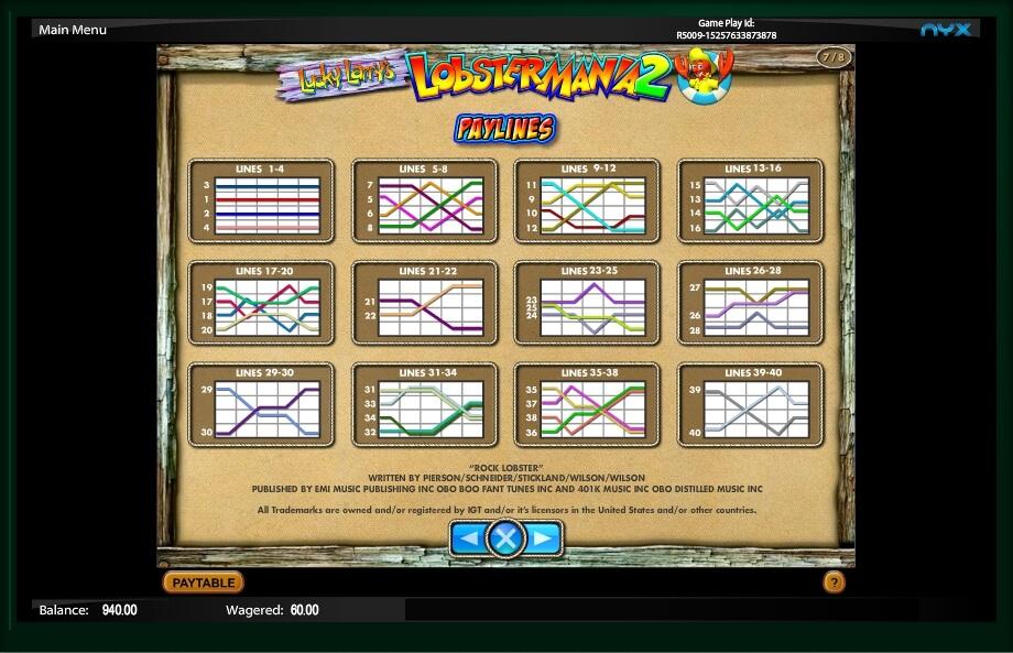 Lobstermania 2 Slots Free Online