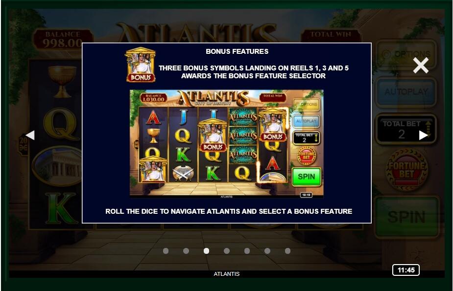 Atlantis: City Of Destiny Slot Machine