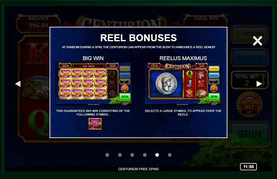 Centurion Free Spins Slot Machine