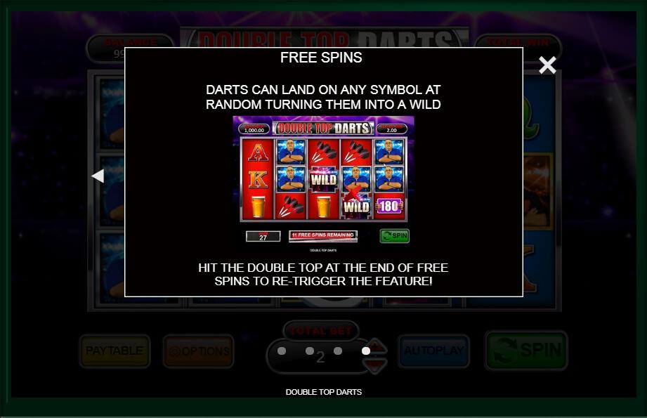 Double Top Darts Slot Machine