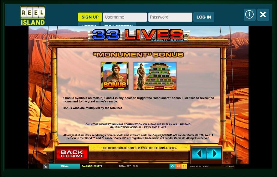 33 Lives Slot Machine