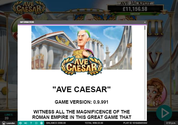 ave caesar slot machine detail image 22