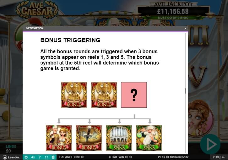 Ave Caesar Slot Machine