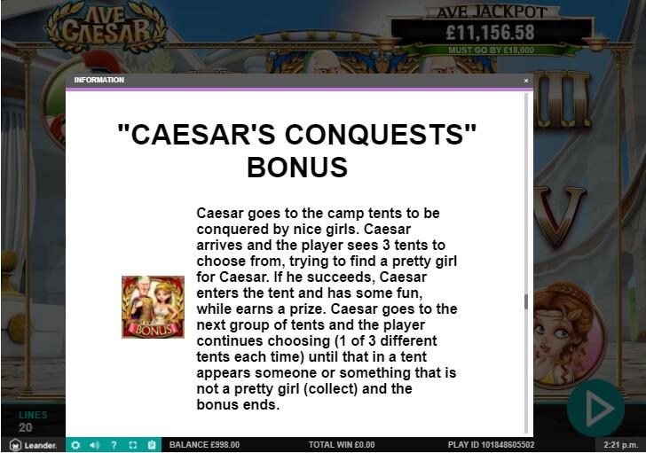 ave caesar slot machine detail image 17