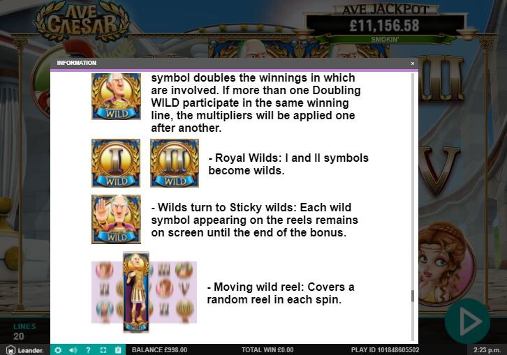 ave caesar slot machine detail image 12