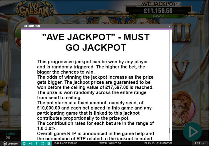 ave caesar slot machine detail image 9