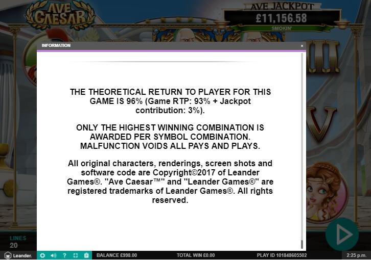 ave caesar slot machine detail image 7