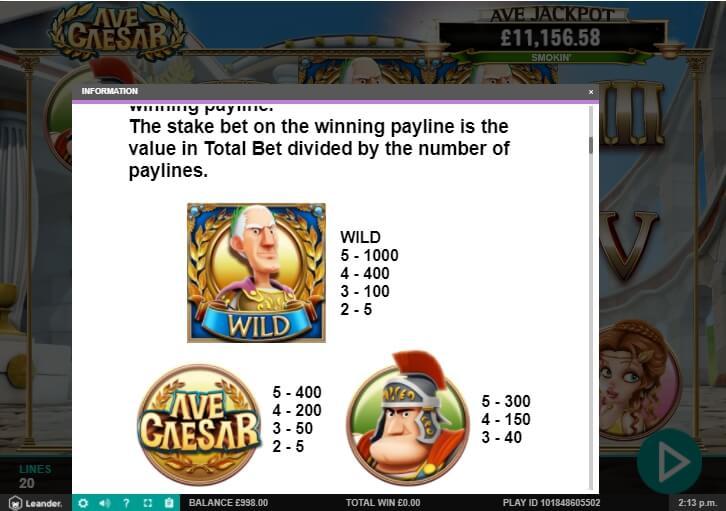 ave caesar slot machine detail image 6