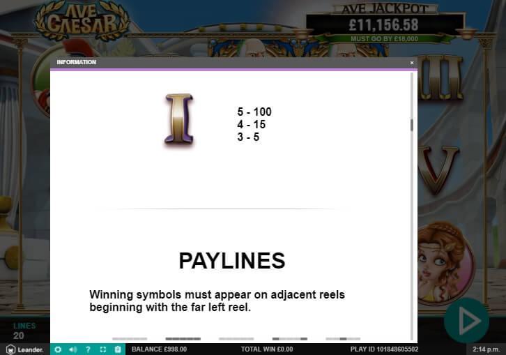 ave caesar slot machine detail image 4