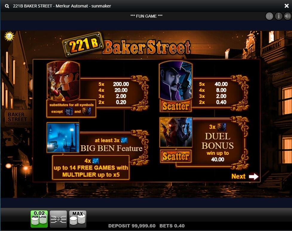 221b Baker Street HD Slot Machine