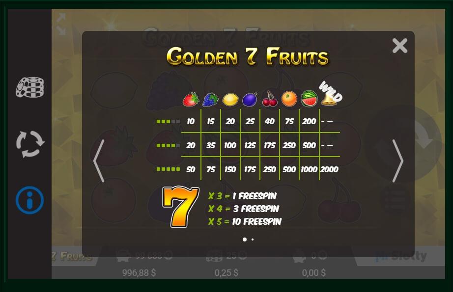 Golden 7 Fruits Slot Machine
