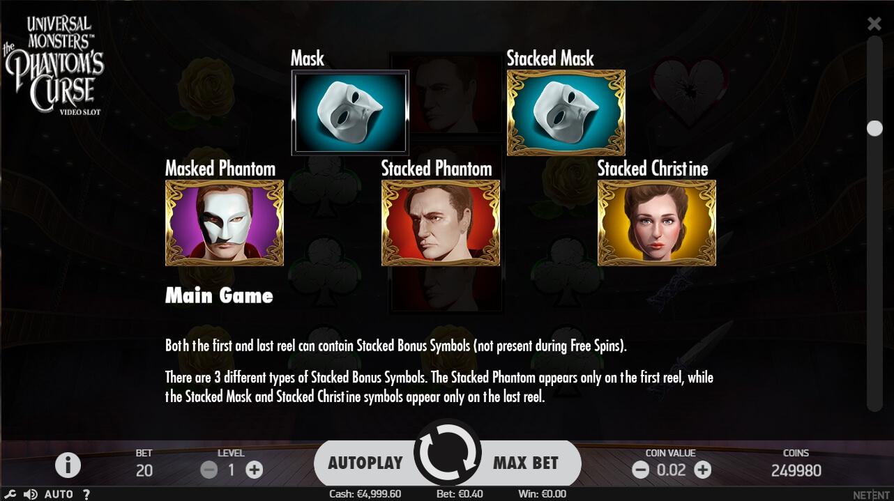 Universal Monsters: The PhantomS Curse No Download Slot