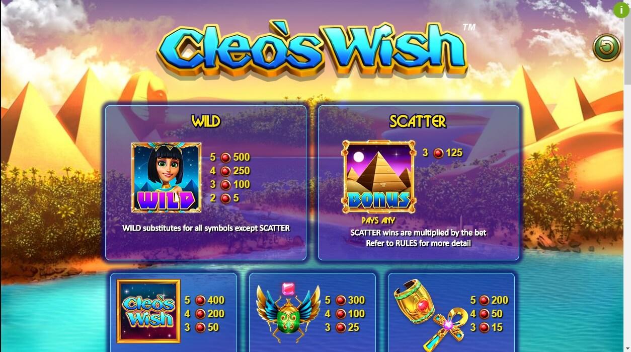 Cleos Wish Slot Machine