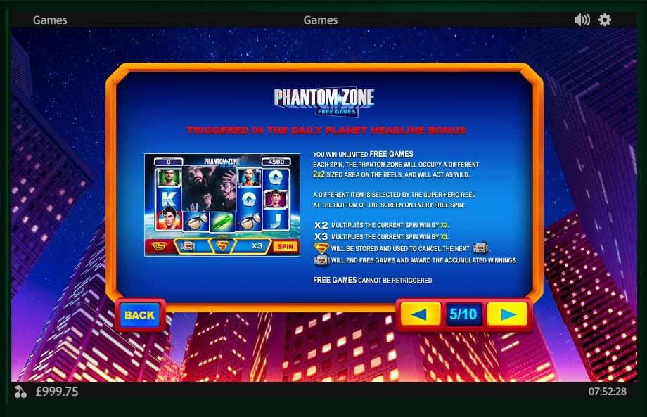 Superman II Free Play Slot