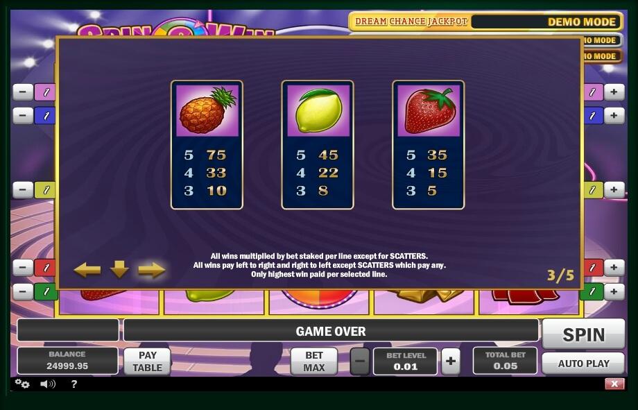 Spin N Win Slot Machine