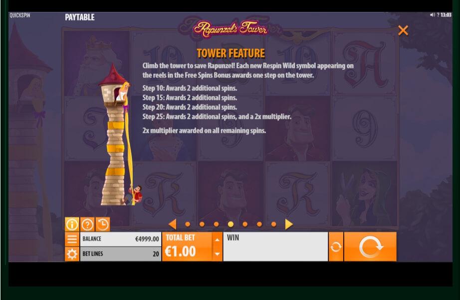 Rapunzels Tower Slot Machine