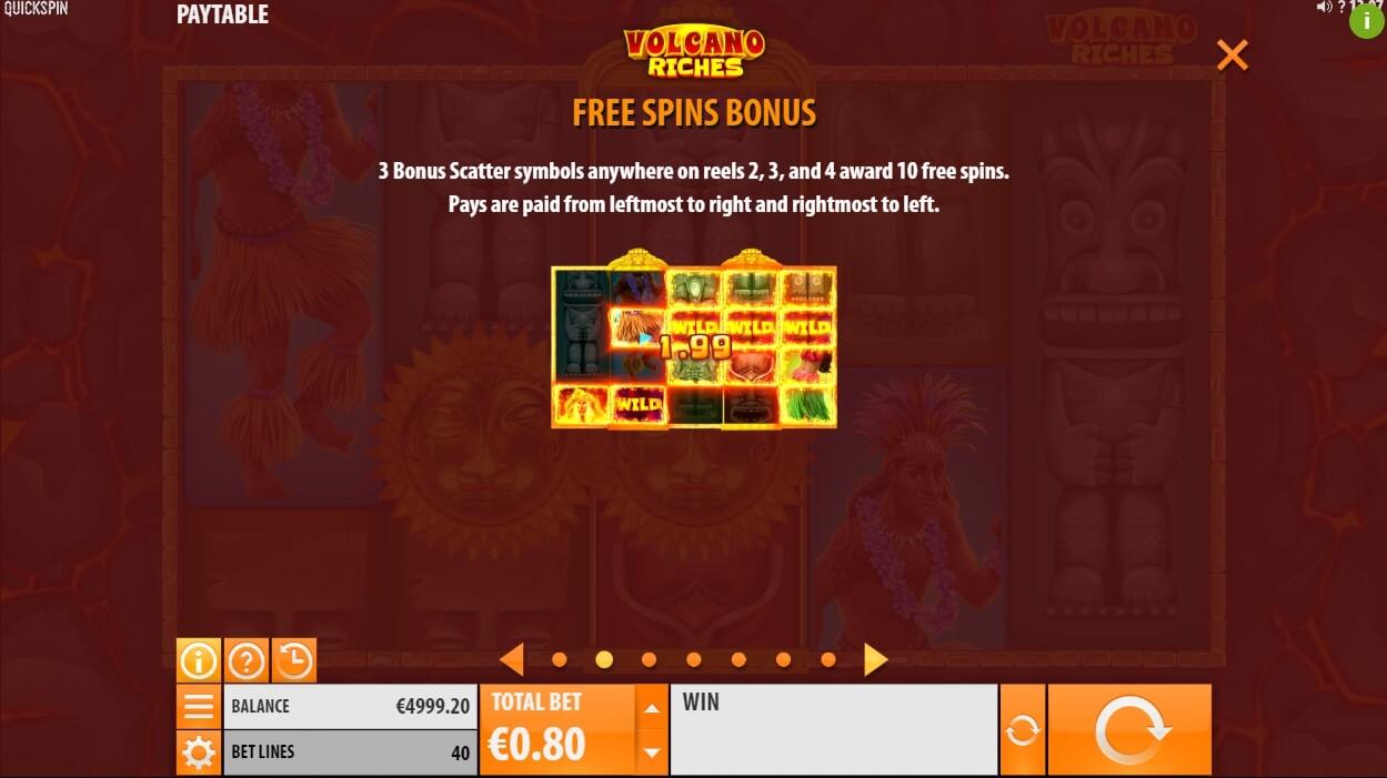 Features of the Volcano online emulator