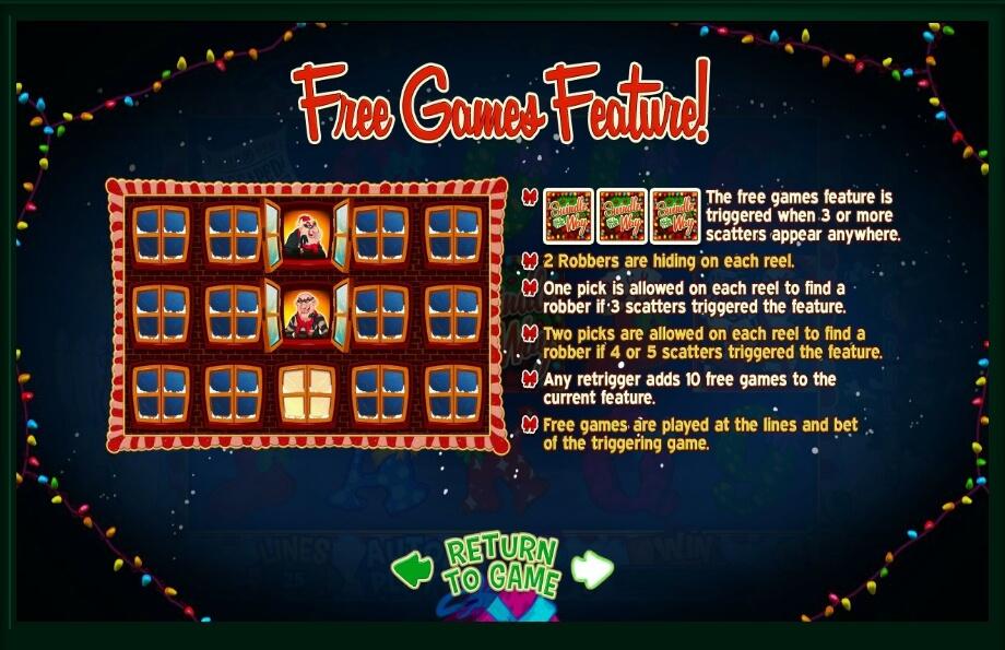 Swindle All the Way Free Play Slot Machine