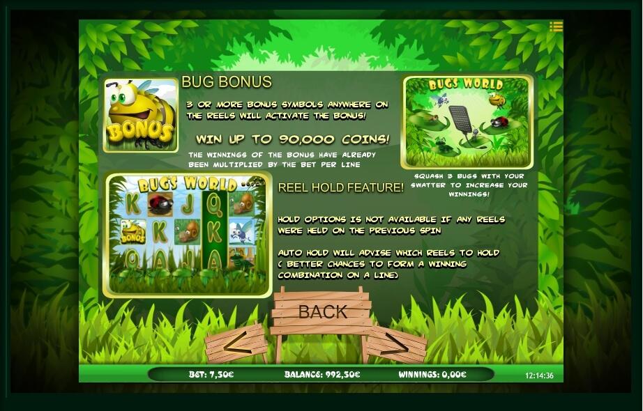 bugs world slot machine detail image 4