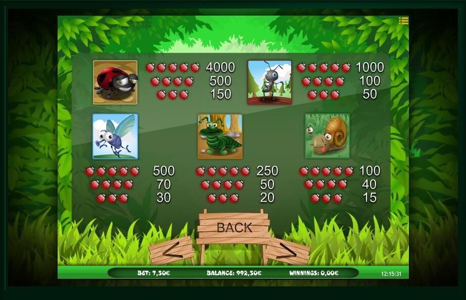 bugs world slot machine detail image 2