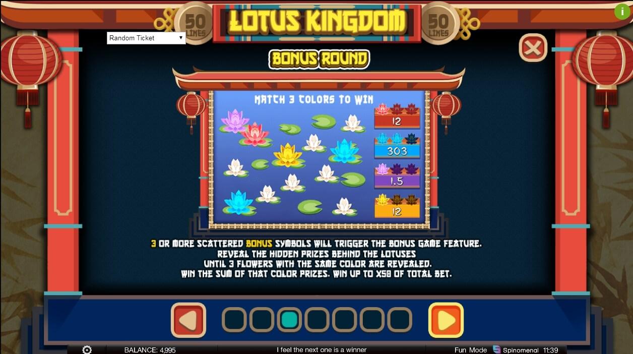 Lotus Kingdom Slot Machine Play Online In Spinomenal Casinos