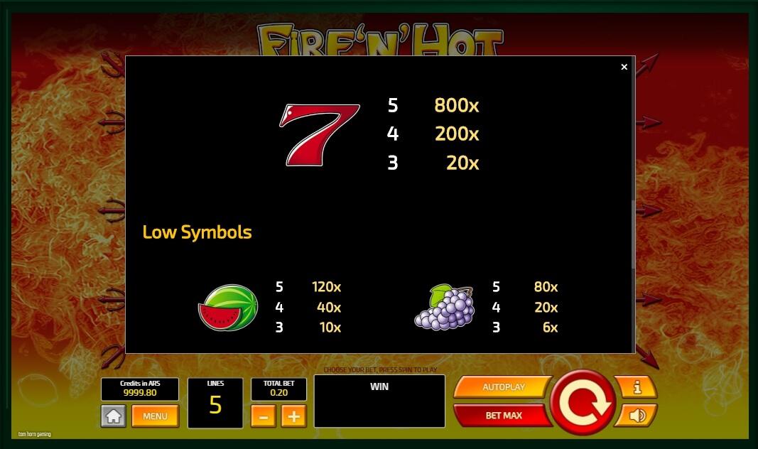 Fire'n'Hot Slot Machine