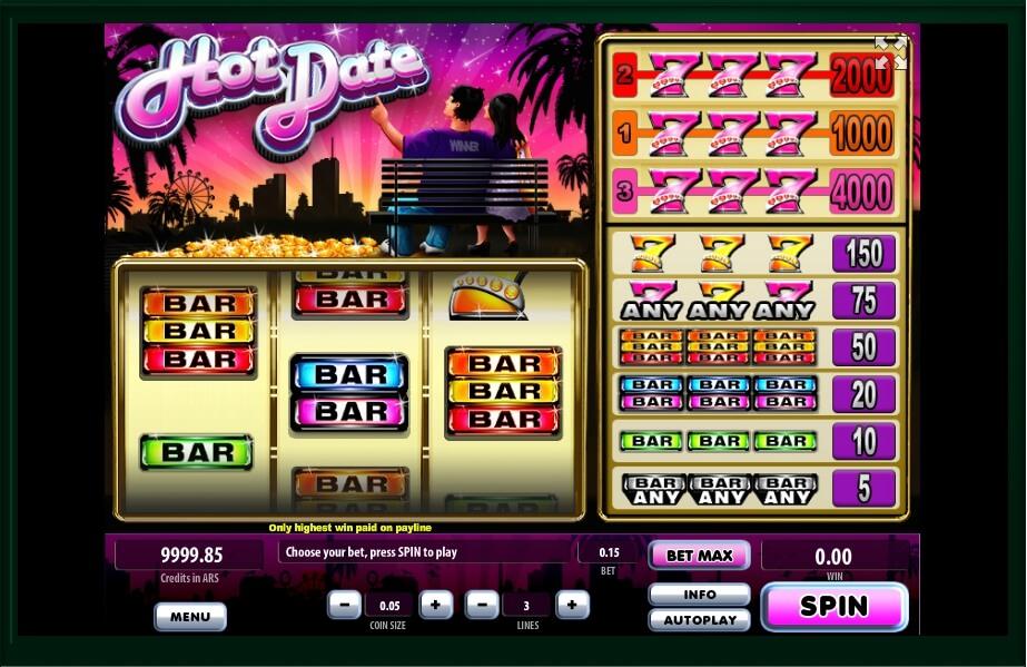 Hot Date Slot Machine