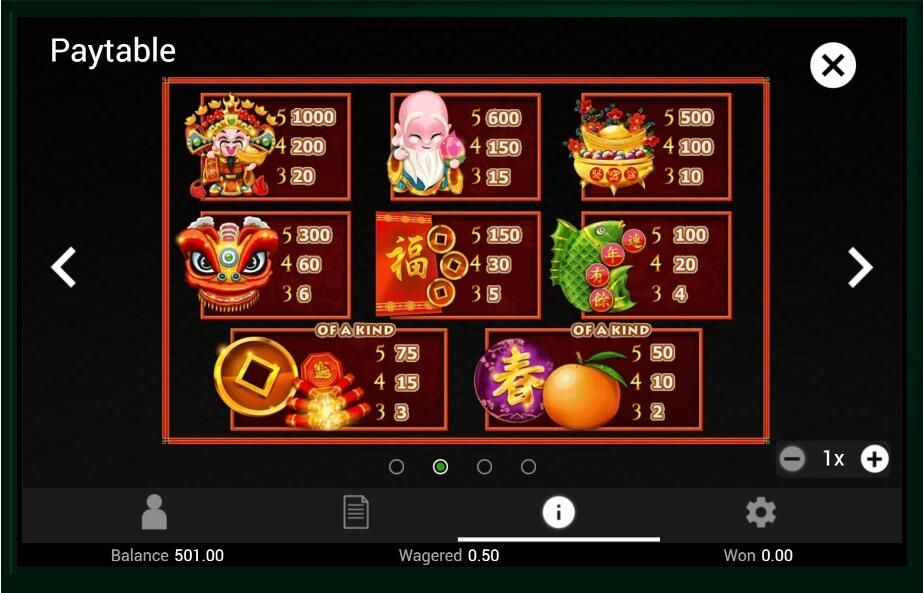 Gong Xi Fa Cai No Download Free Play Slot